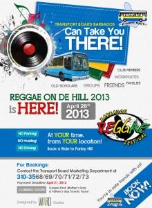 Transport Board Reggae Flyer