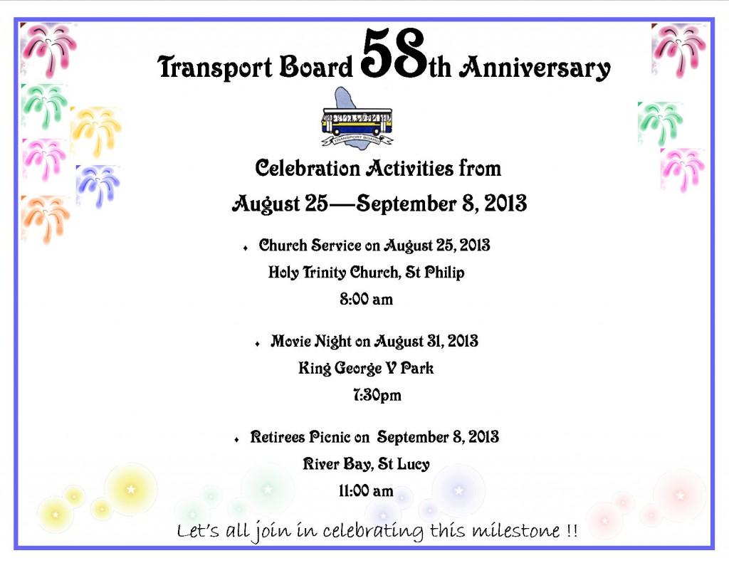 58 Anniversary Celebrations